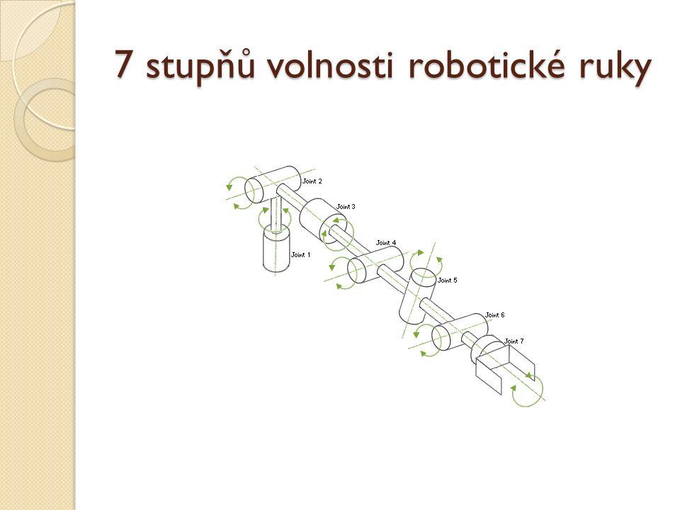7 stupňů volnosti robotické ruky