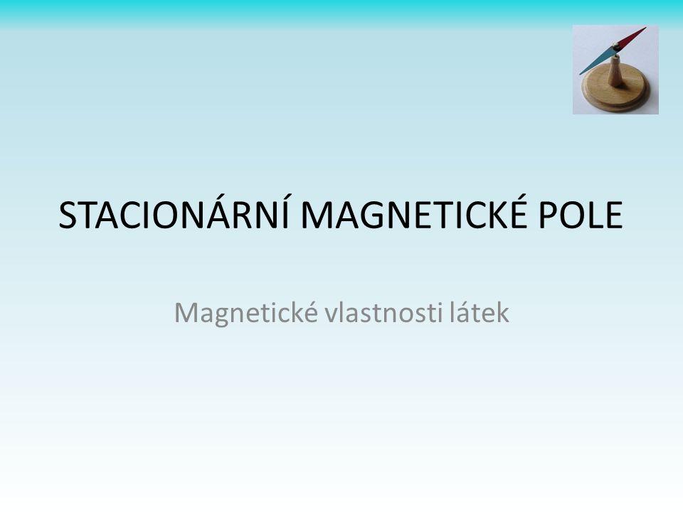 STACIONÁRNÍ MAGNETICKÉ POLE Magnetické vlastnosti látek