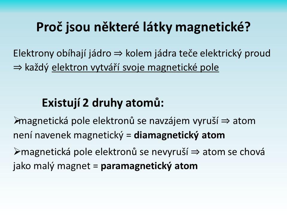 Proč jsou některé látky magnetické.
