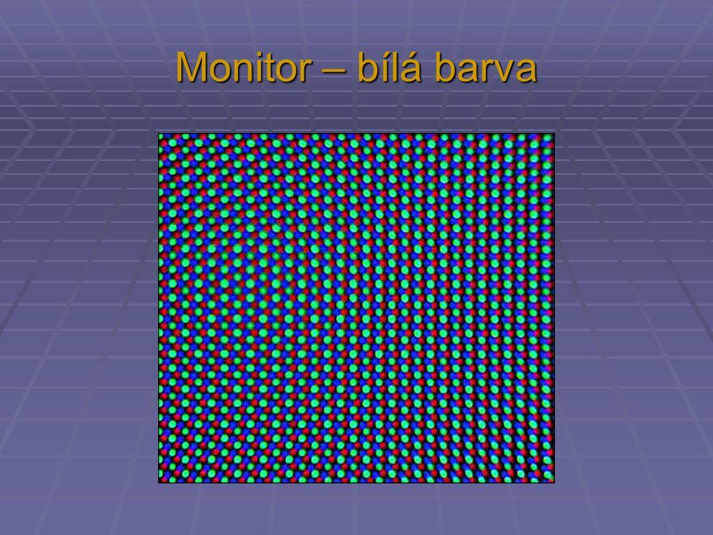 Monitor – bílá barva