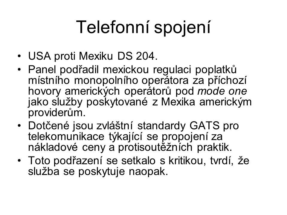 Telefonní spojení USA proti Mexiku DS 204.