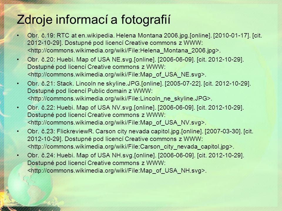 Zdroje informací a fotografií Obr. č.19: RTC at en.wikipedia.