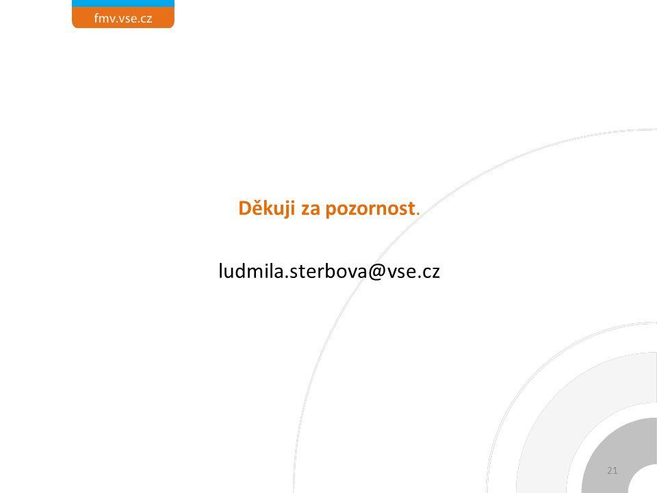 Děkuji za pozornost. ludmila.sterbova@vse.cz 21