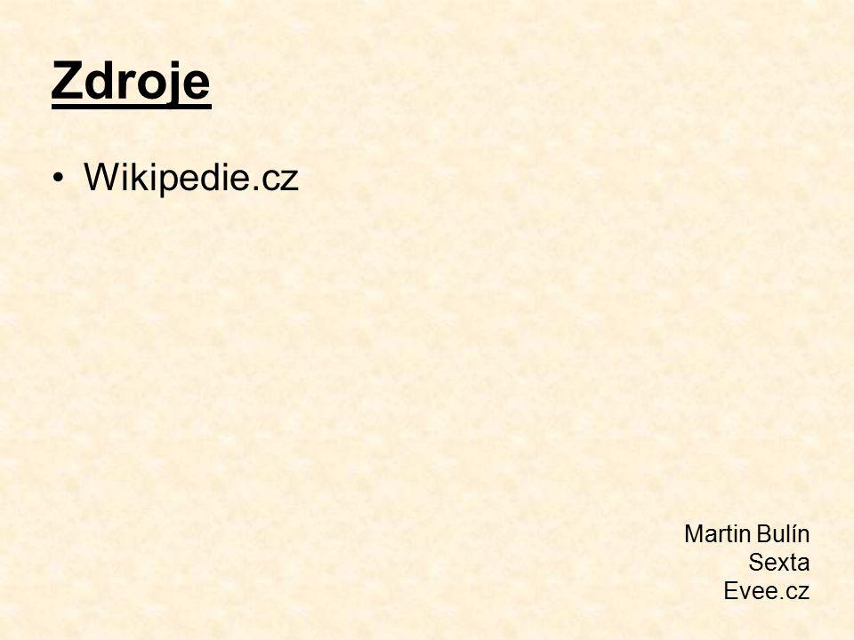 Zdroje Wikipedie.cz Martin Bulín Sexta Evee.cz