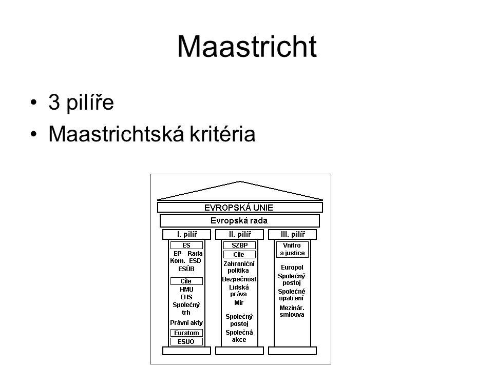 Maastricht 3 pilíře Maastrichtská kritéria