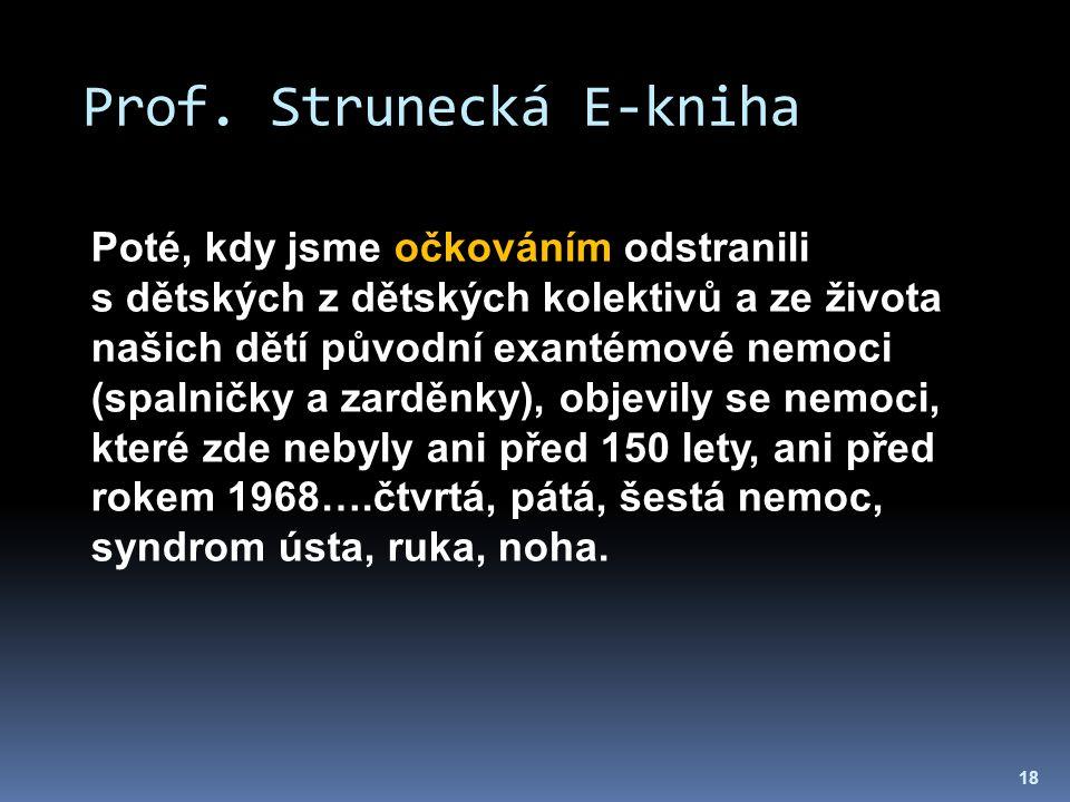Prof. Strunecká E-kniha 18 Poté, kdy jsme očkováním odstranili s dětských z dětských kolektivů a ze života našich dětí původní exantémové nemoci (spal