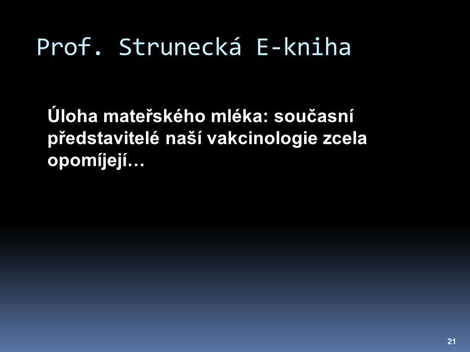 Prof. Strunecká E-kniha 21 Úloha mateřského mléka: současní představitelé naší vakcinologie zcela opomíjejí…