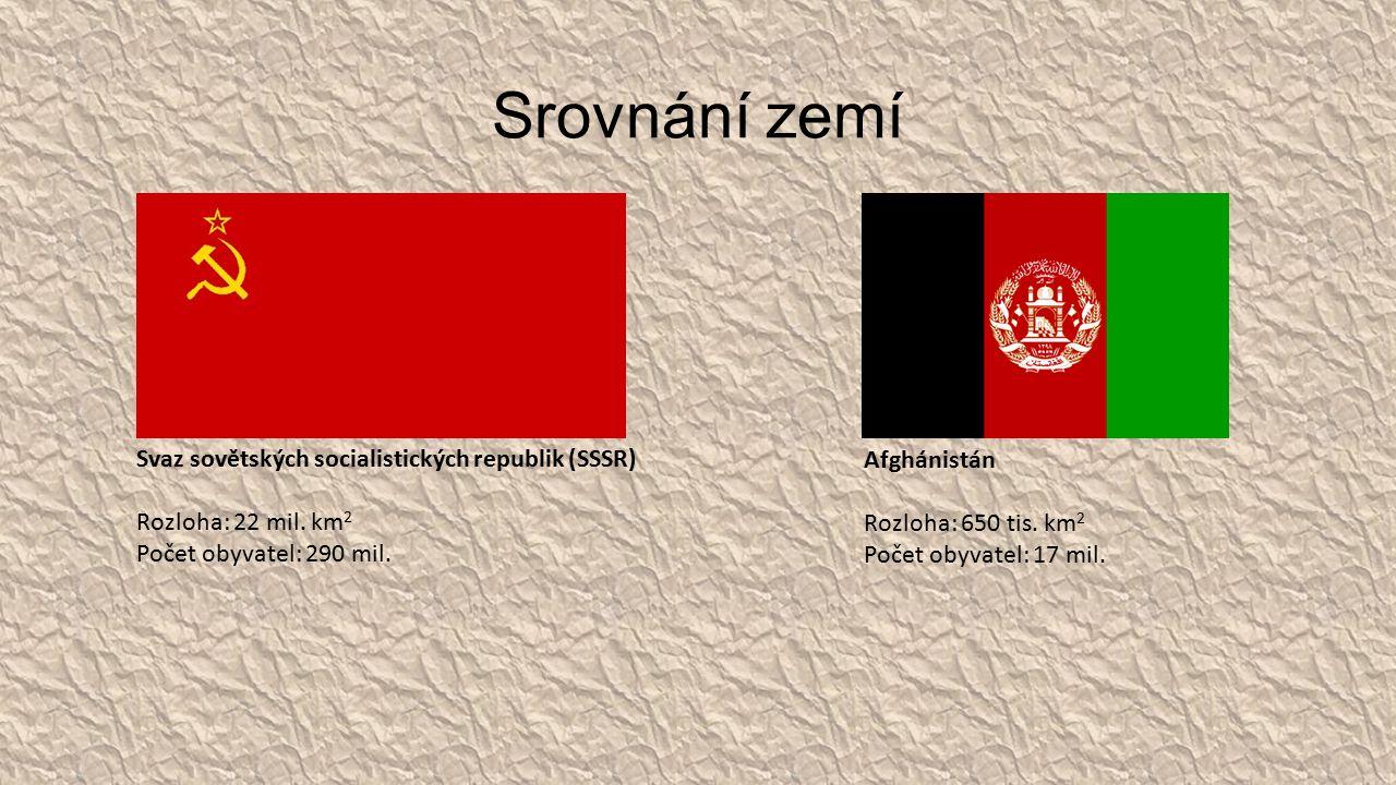 Srovnání zemí Svaz sovětských socialistických republik (SSSR) Rozloha: 22 mil.