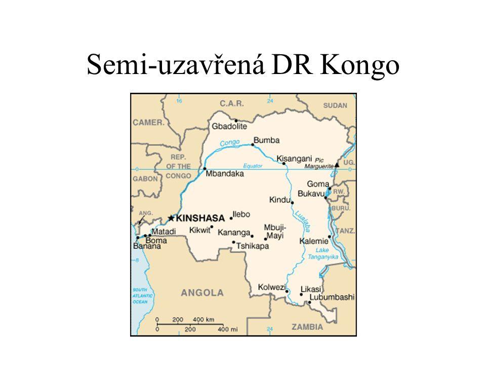 Semi-uzavřená DR Kongo