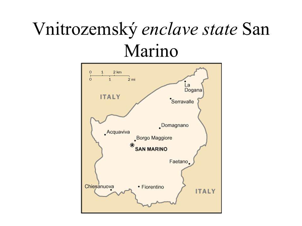 Vnitrozemský enclave state San Marino