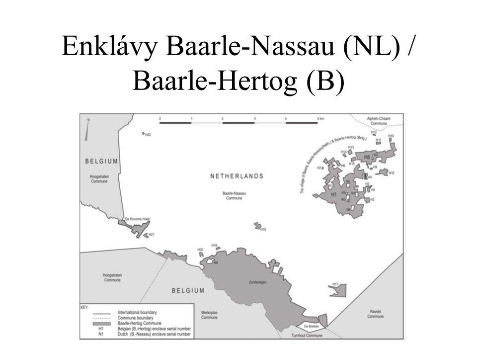 Enklávy Baarle-Nassau (NL) / Baarle-Hertog (B)