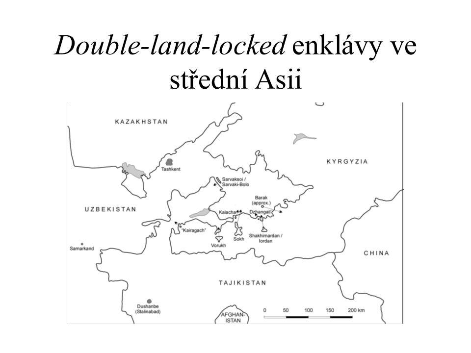 Double-land-locked enklávy ve střední Asii