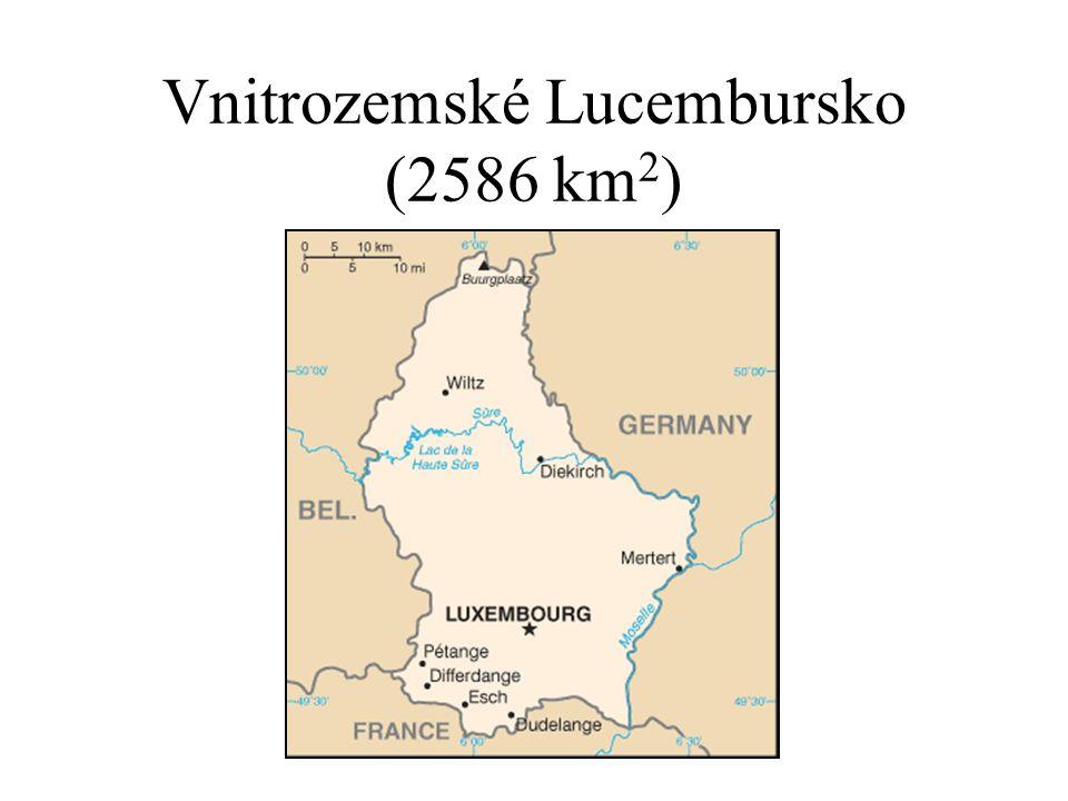 Vnitrozemské Lucembursko (2586 km 2 )