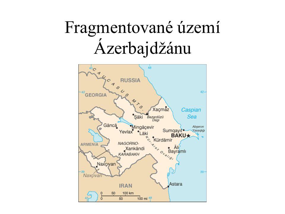 Fragmentované území Ázerbajdžánu