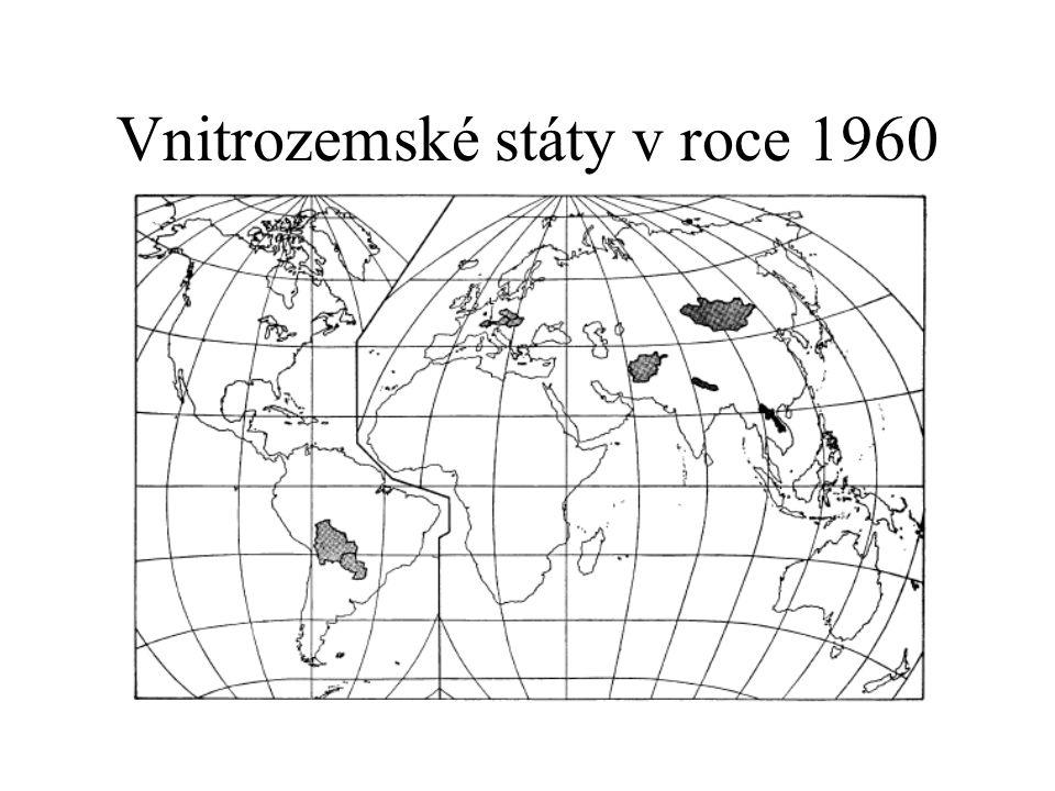 Vnitrozemské státy v roce 1960