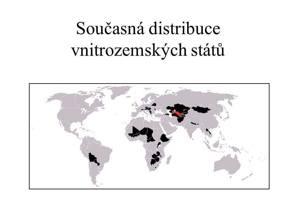 Současná distribuce vnitrozemských států
