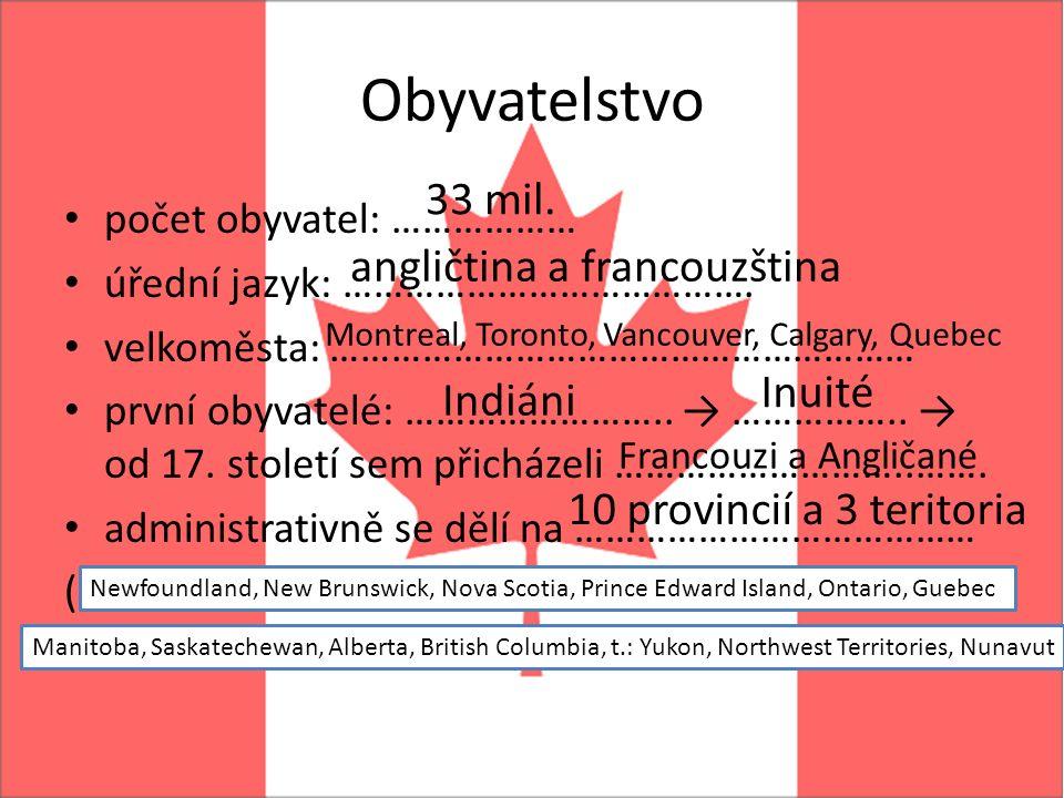 Obyvatelstvo počet obyvatel: ……………… úřední jazyk: ………………………………….