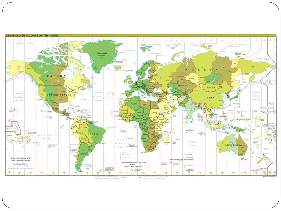 datová mez = poledník 180° datová mez neprochází přímo tímto poledníkem - je upravena hranicemi států, kterými poledník 180° prochází při přechodu datové meze z východní polokoule na západní zmenšíme datum o 1 den např.: východní polokoule, středa 7 h datová mez západní polokoule, úterý 7 h při přechodu datové meze ze západní polokoule na východní zvětšíme datum o 1 den např.: západní polokoule, sobota 13 h datová mez východní polokoule, neděle 13 h