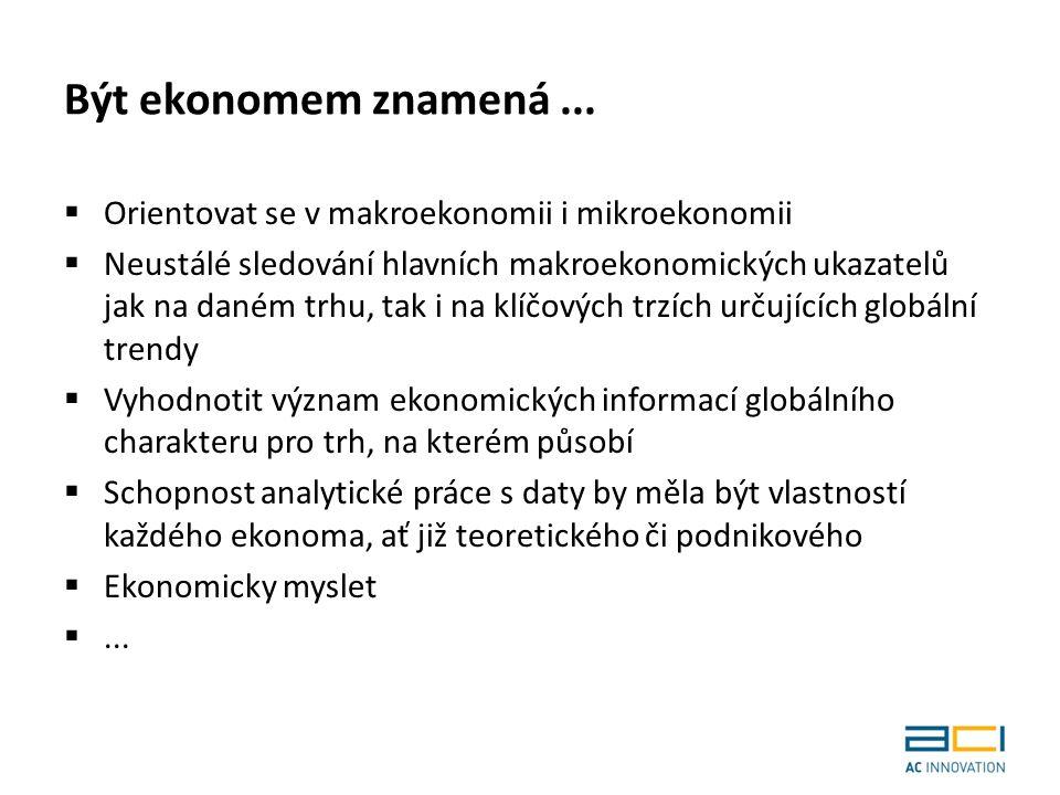 Být ekonomem znamená...