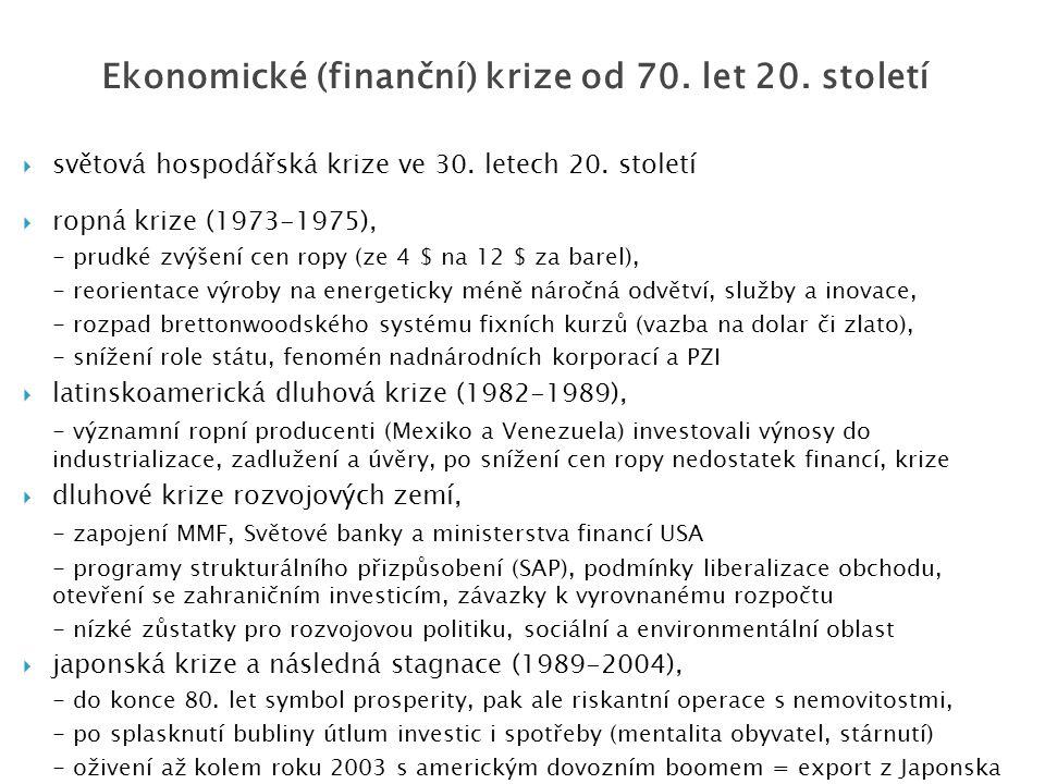  světová hospodářská krize ve 30. letech 20.