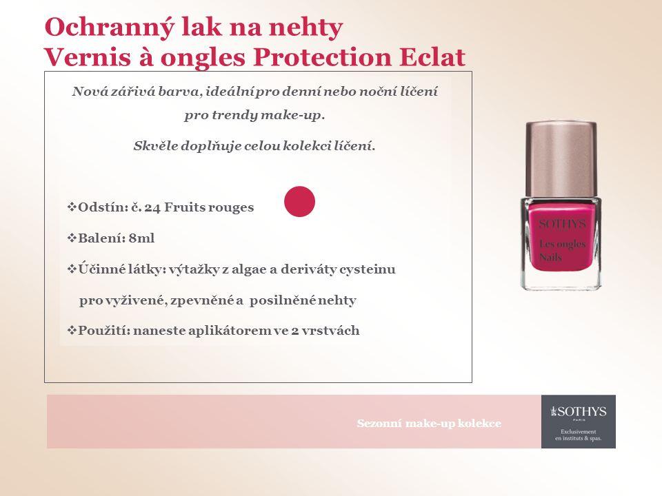 Ochranný lak na nehty Vernis à ongles Protection Eclat Nová zářivá barva, ideální pro denní nebo noční líčení pro trendy make-up.