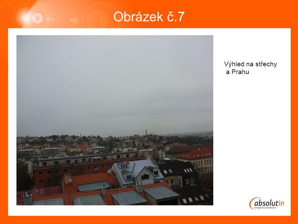 Obrázek č.7 Výhled na střechy a Prahu