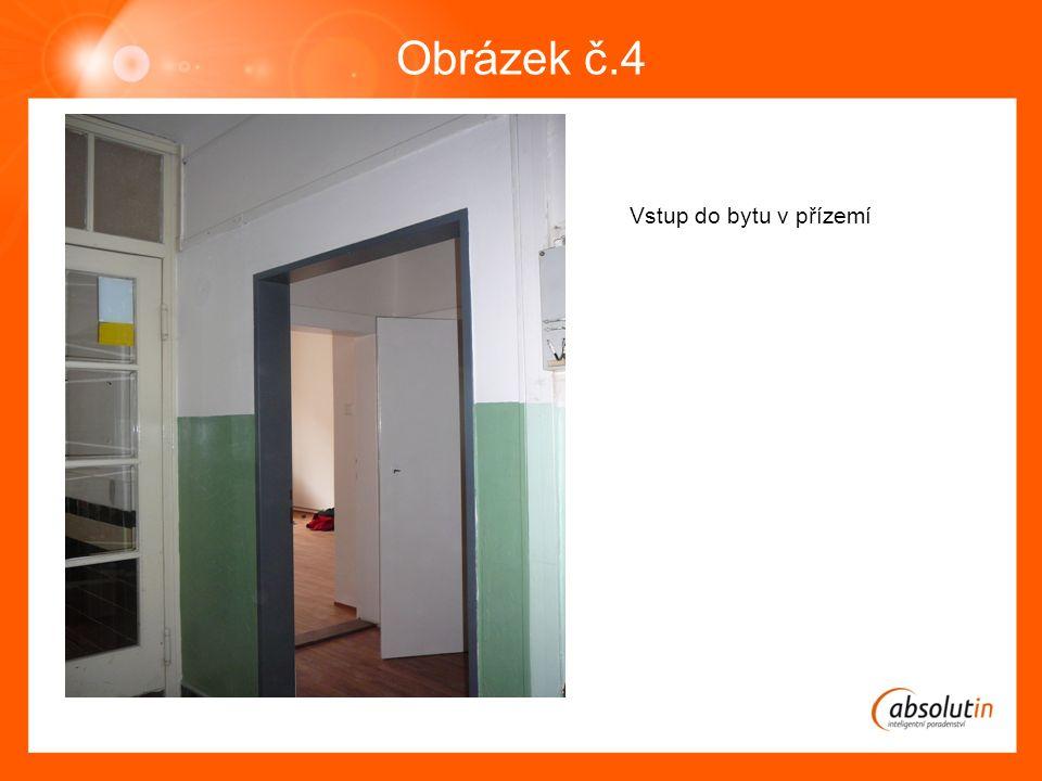 Obrázek č.4 Vstup do bytu v přízemí