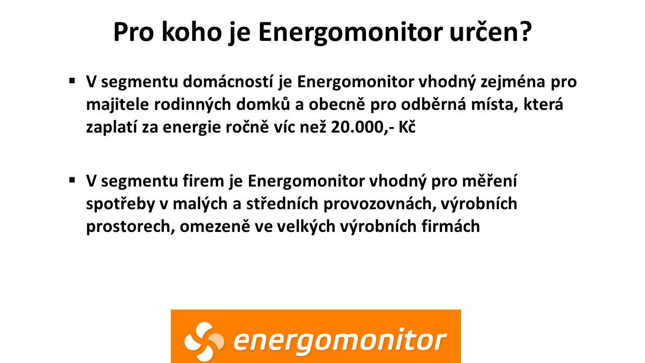 Pro koho je Energomonitor určen?  V segmentu domácností je Energomonitor vhodný zejména pro majitele rodinných domků a obecně pro odběrná místa, kter