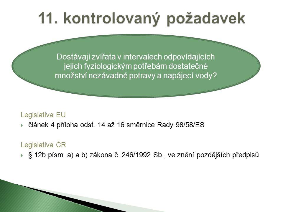 Legislativa EU  článek 4 příloha odst.