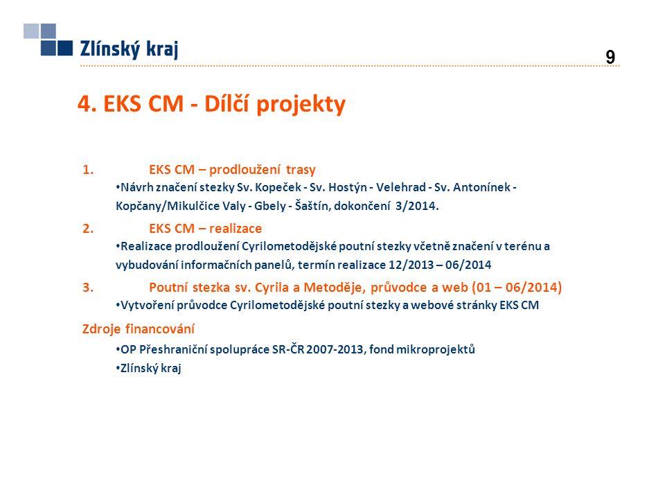 4. EKS CM - Dílčí projekty 9 1.EKS CM – prodloužení trasy Návrh značení stezky Sv.