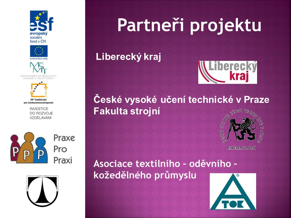 Kontakt: Technická univerzita v Liberci Fakulta textilní Studentská 2 461 17 Liberec Za organizační tým: Ing.