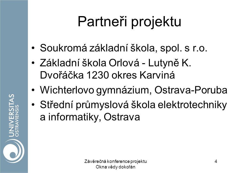 Partneři projektu Soukromá základní škola, spol. s r.o.