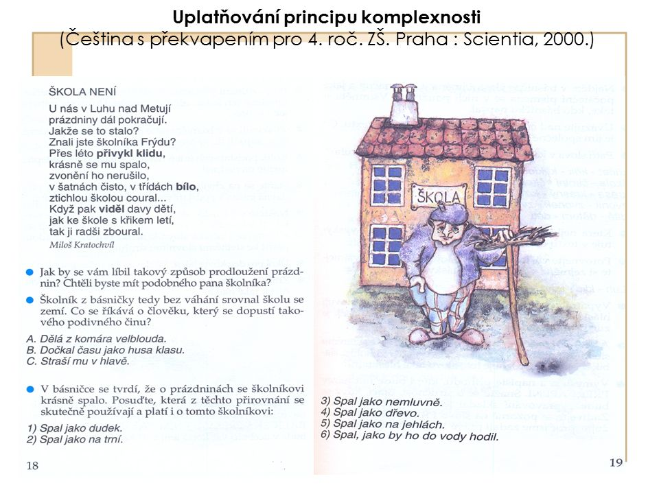 Uplatňování principu komplexnosti (Čeština s překvapením pro 4. roč. ZŠ. Praha : Scientia, 2000.)