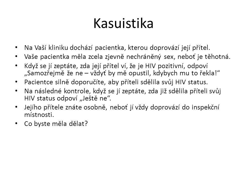 Kasuistika Na Vaší kliniku dochází pacientka, kterou doprovází její přítel.