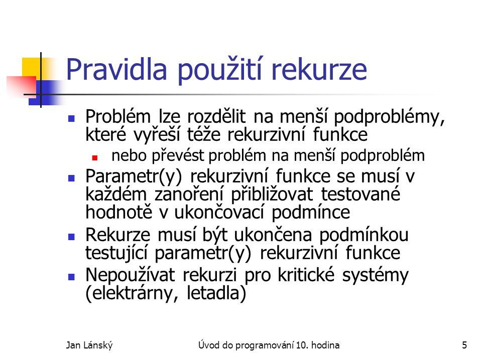 Jan LánskýÚvod do programování 10.
