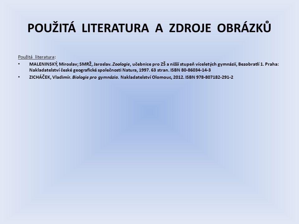 POUŽITÁ LITERATURA A ZDROJE OBRÁZKŮ Použitá literatura: MALENINSKÝ, Miroslav; SMRŽ, Jaroslav.