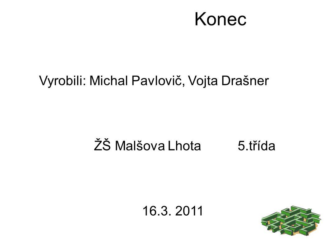 Konec Vyrobili: Michal Pavlovič, Vojta Drašner ŽŠ Malšova Lhota 5.třída 16.3. 2011