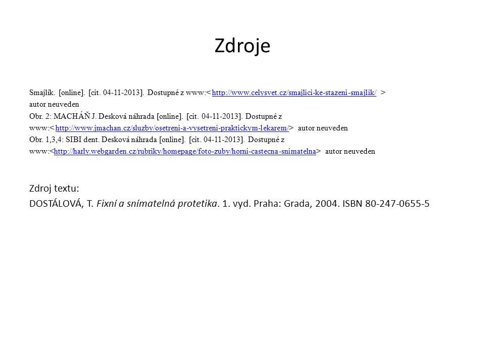 Zdroje Smajlík. [online]. [cit. 04-11-2013].
