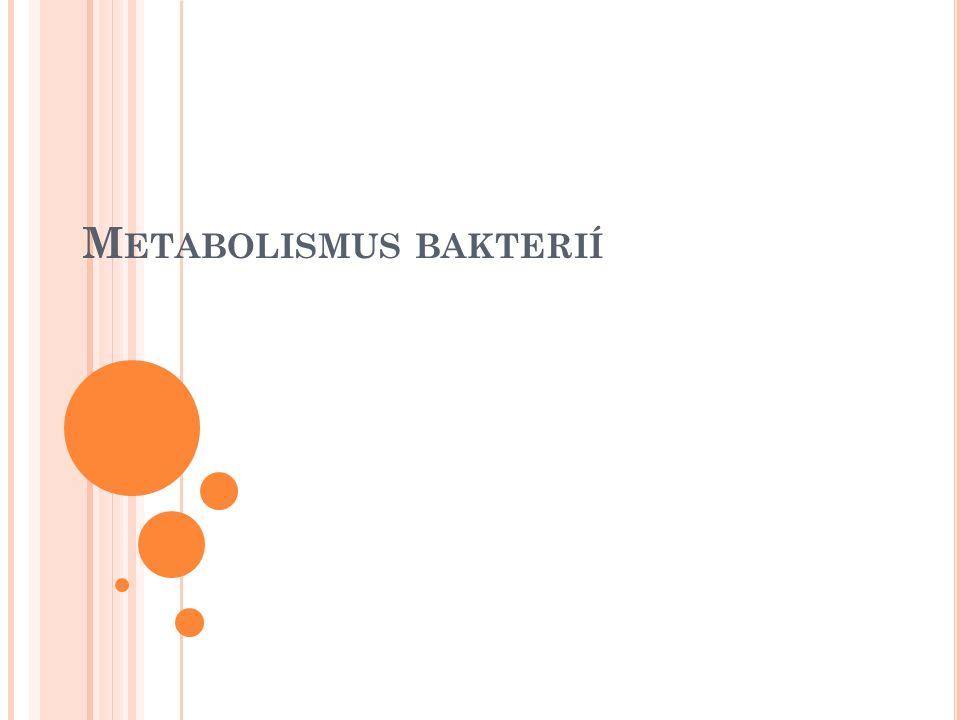 Metabolismus - souhrn všech reakcí probíhajících v živé hmotě – tedy i uvnitř bakteriální buňky a v jejím bezprostředním okolí.