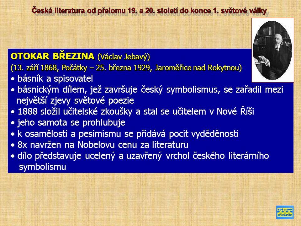PETR BEZRUČ (vl.jm. Vladimír Vašek) (15. září 1867, Opava – 17.