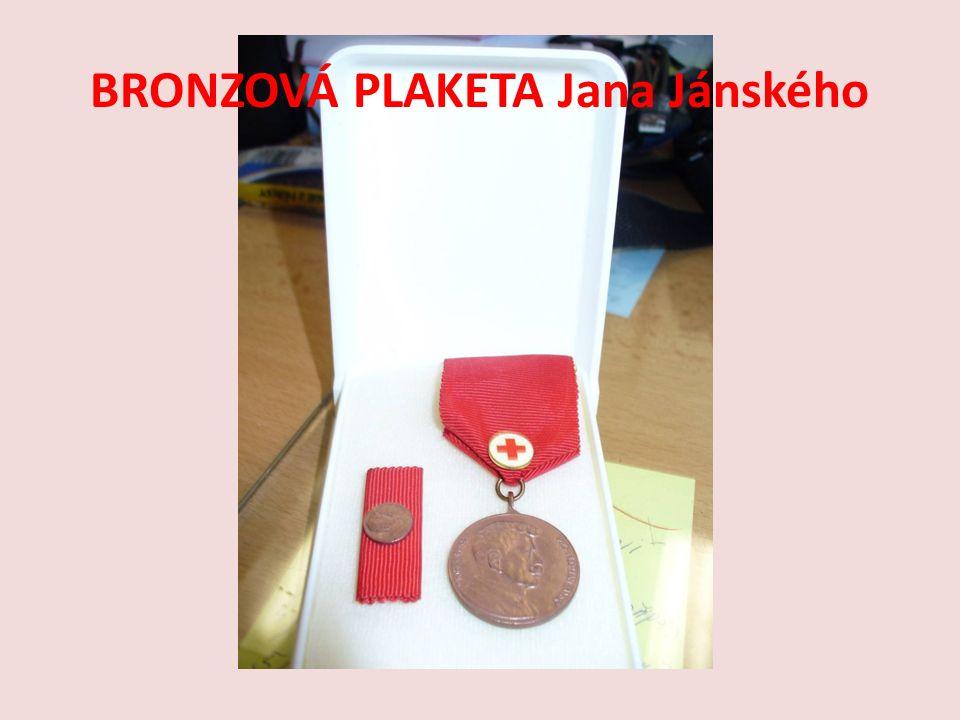 BRONZOVÁ PLAKETA Jana Jánského
