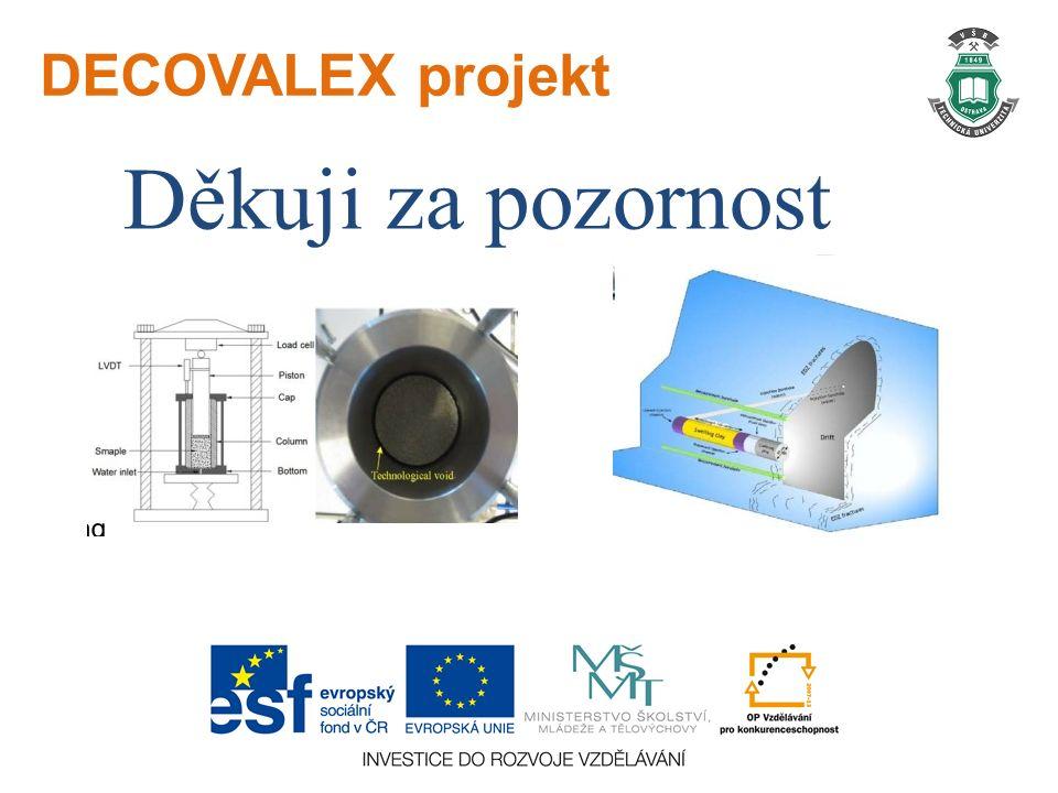 DECOVALEX projekt Děkuji za pozornost