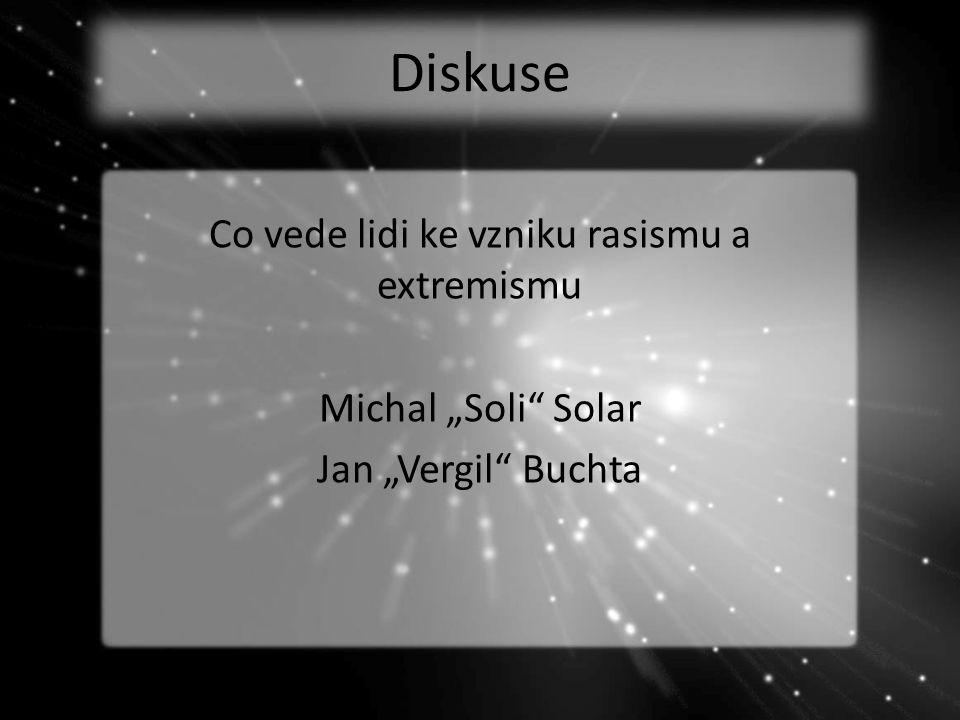"Diskuse Co vede lidi ke vzniku rasismu a extremismu Michal ""Soli"" Solar Jan ""Vergil"" Buchta"