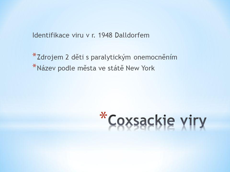 * Akutní myoperikarditida * Coxsackie sk.