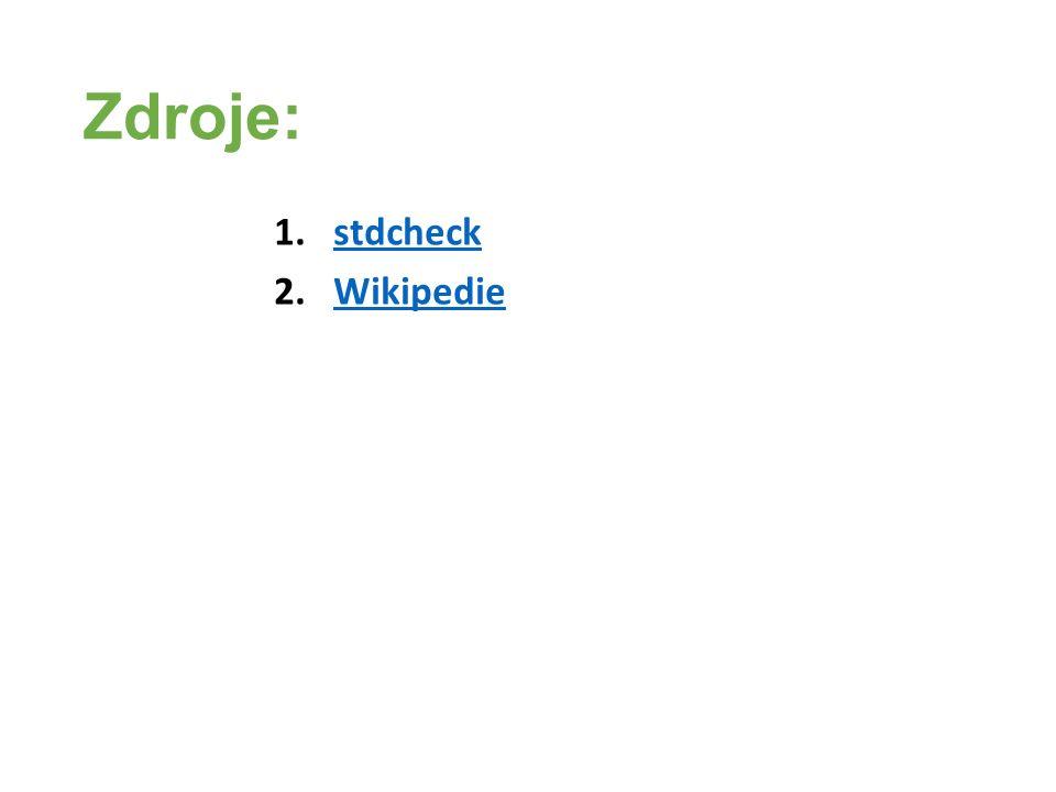 Zdroje: 1.stdcheckstdcheck 2.WikipedieWikipedie