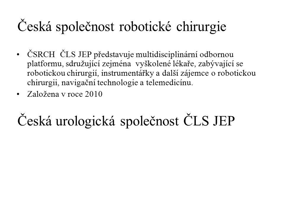 Česká společnost robotické chirurgie ČSRCH ČLS JEP představuje multidisciplinární odbornou platformu, sdružující zejména vyškolené lékaře, zabývající se robotickou chirurgií, instrumentářky a další zájemce o robotickou chirurgii, navigační technologie a telemedicínu.