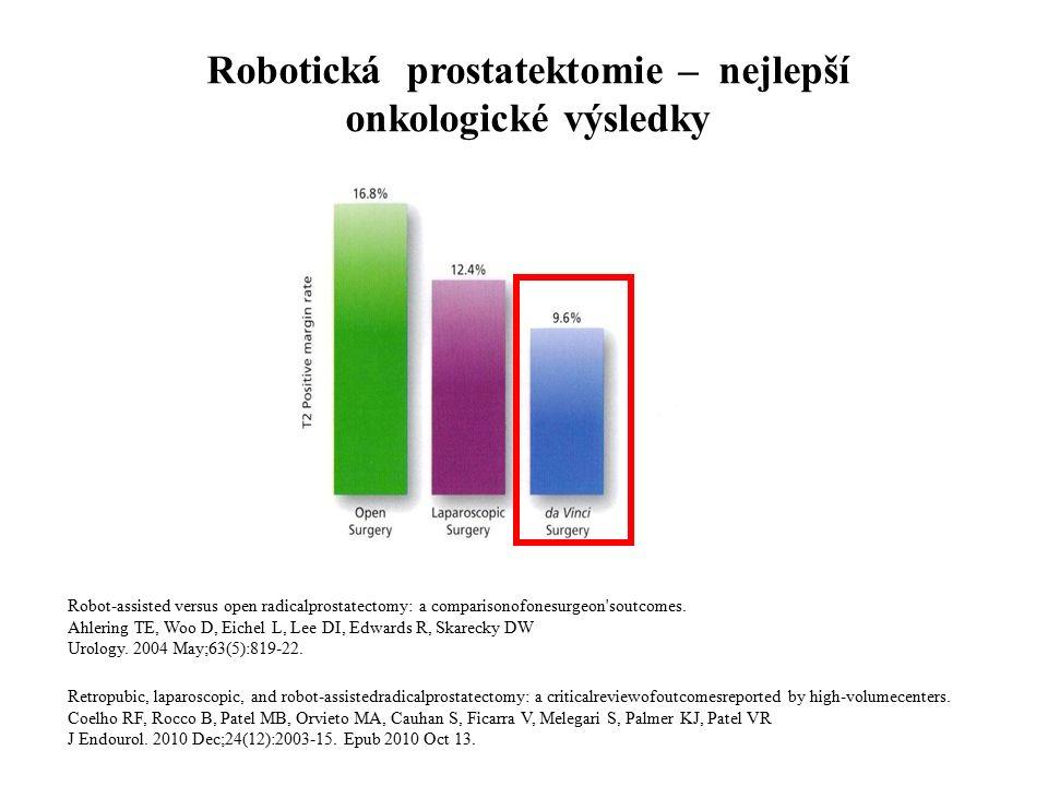 Robotická prostatektomie – nejlepší onkologické výsledky Robot-assisted versus open radicalprostatectomy: a comparisonofonesurgeon soutcomes.