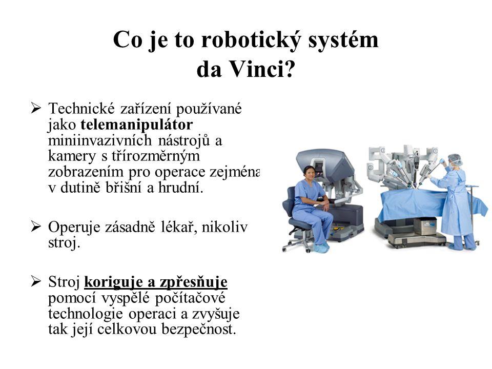 Co je to robotický systém da Vinci.