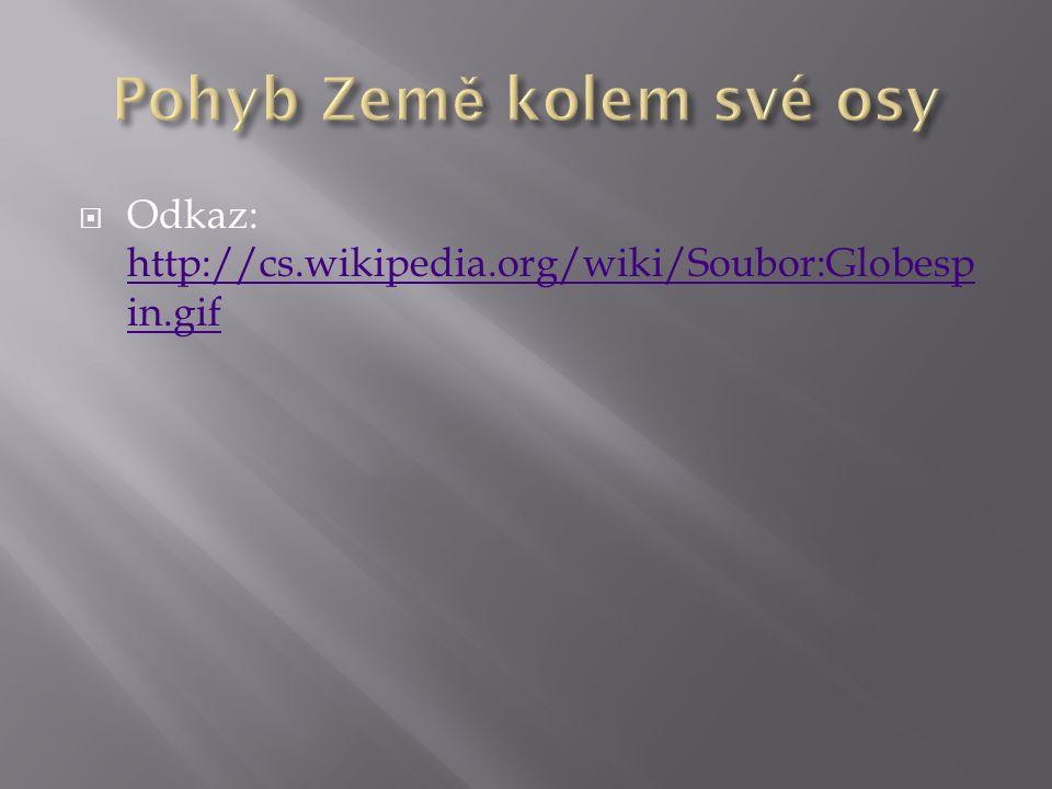  Odkaz: http://cs.wikipedia.org/wiki/Soubor:Globesp in.gif http://cs.wikipedia.org/wiki/Soubor:Globesp in.gif
