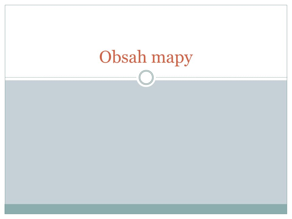 Obsah mapy